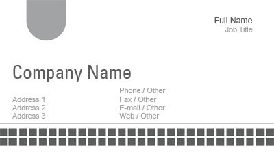 Single Sided Grey Box Business Card Template